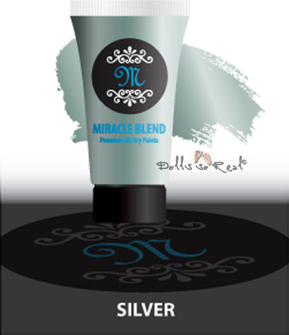 Fantasy Silver - Miracle Blend Premium Air Dry Paint - 1oz Tube