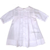 Petit Ami Classic Pleated Preemie White Day Gown - Preemie