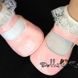 72mm CREAM German style DOLL Shoes