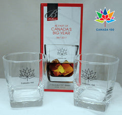 Canada 150 Set of 2 Whisky Glasses #3092