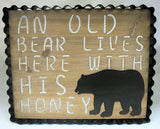 Old Bear Wall Plaque #7890-5040