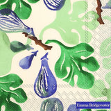 Cocktail Napkins Figs Green 6 Pack Set #C607420