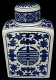 Blue & White Tea Caddy #AV69662