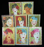 Chic Girls Canvas Art 8pc. Set #91215