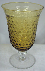 Hobnail Wine Glass - Amber #4585