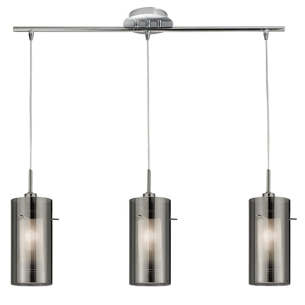 DUO 3 Light Pendant Bar - Smoked