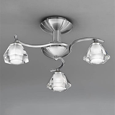 TWISTA 3 Light Semi Flush - Nickel