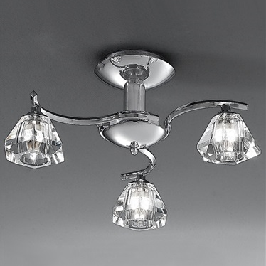 TWISTA 3 Light Semi Flush - Chrome