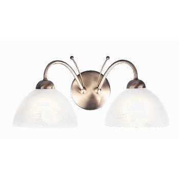 MILANESE Double Wall Light in Antique Brass