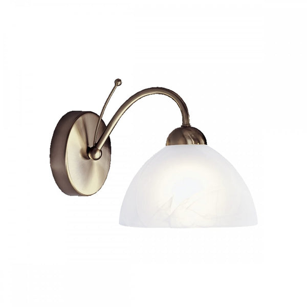 MILANESE Single Wall Light in Antique Brass