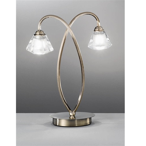 TWISTA Double Table Lamp - Bronze