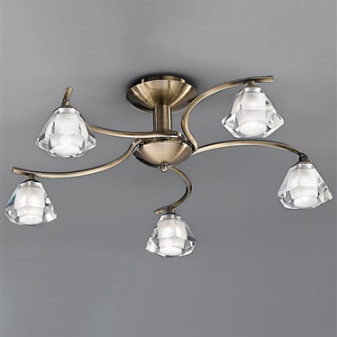 TWISTA 5 Light Semi Flush - Bronze