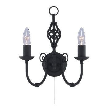 ZANZIBAR Double Wall Light in Matt Black