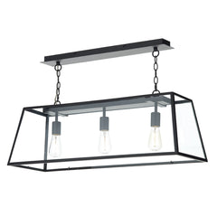 ACADEMY 3 Light Lantern Bar - Black