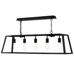 ACADEMY 5 Light Lantern Bar - Black