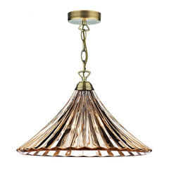 ARDECHE 1 Light Large Pendant - Amber