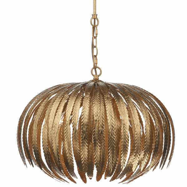 ATTICUS 5 Light Pendant in Gold Leaf