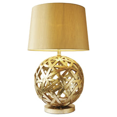 BALTHAZAR 1 Light Table Lamp in Antique Gold