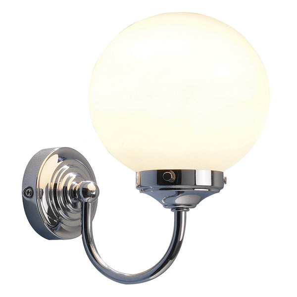 BARCLAY Bathroom Wall Light in Polished Chrome