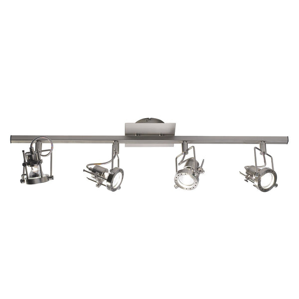 BAUHAUS 4 Light Spot Bar in Brushed Chrome