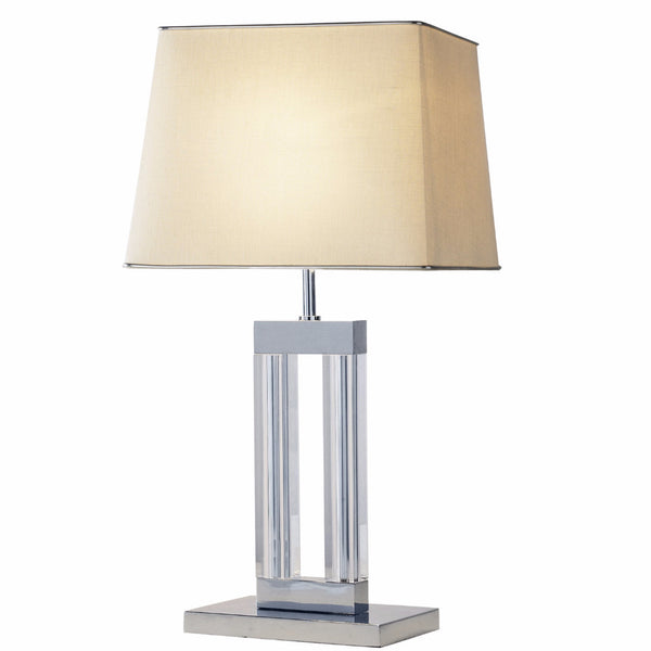 DOMAIN 1 Light Quartz Glass Table Lamp