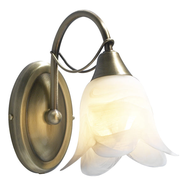 DOUBLET Single Wall Light - Antique Brass