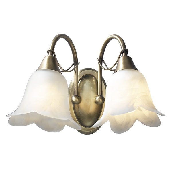 DOUBLET Double Wall Light - Antique Brass