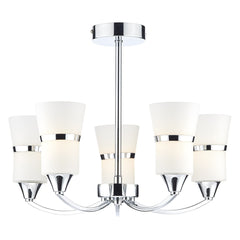 DUBLIN 5 Light Semi Flush - Chrome
