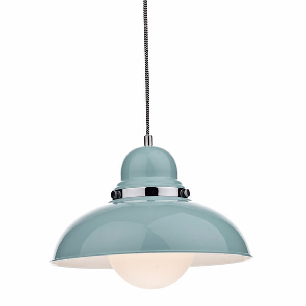 DYNAMO 1 Light Single Pendant in Powder Blue