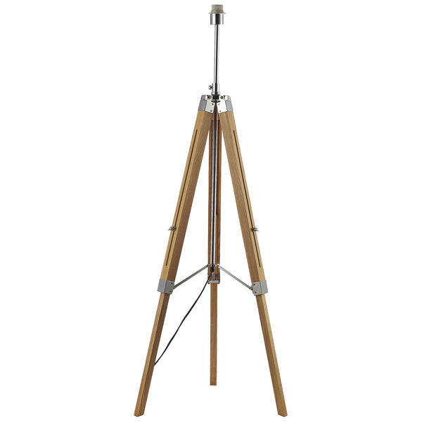 EASEL 1 Light Wooden Tripod Lamp - Light Wood
