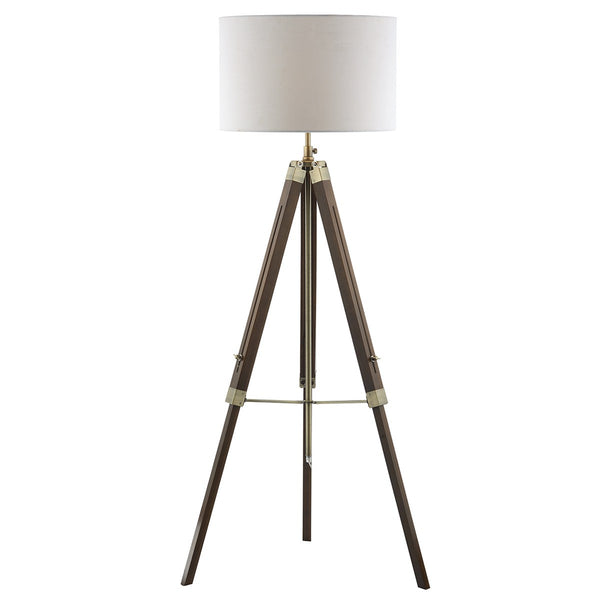 EASEL 1 Light Wooden Tripod Lamp - Dark Wood