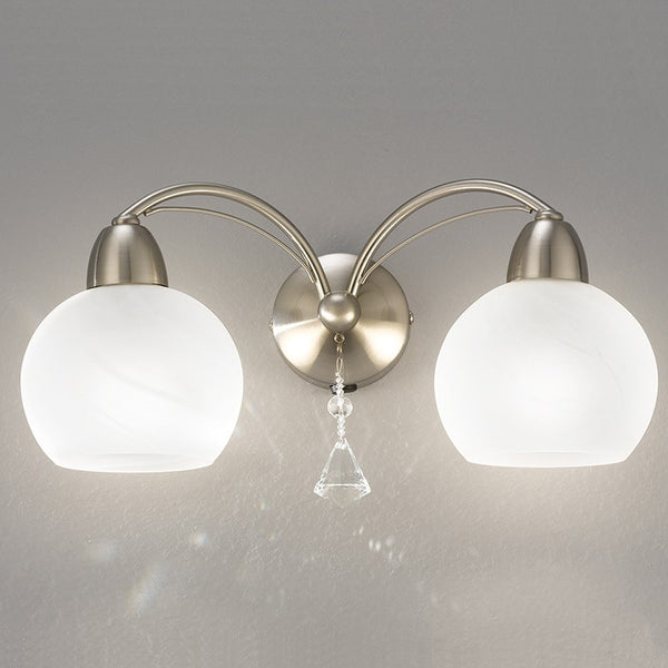 THEA Double Wall Light - Nickel