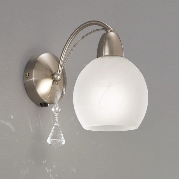 THEA Single Wall Light - Nickel