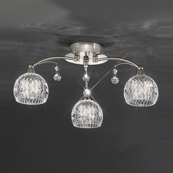JURA 3 Light Semi Flush - Satin Nickel
