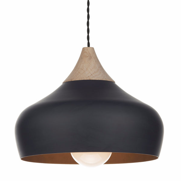 GAUCHO 1 Light Pendant in Matt Black