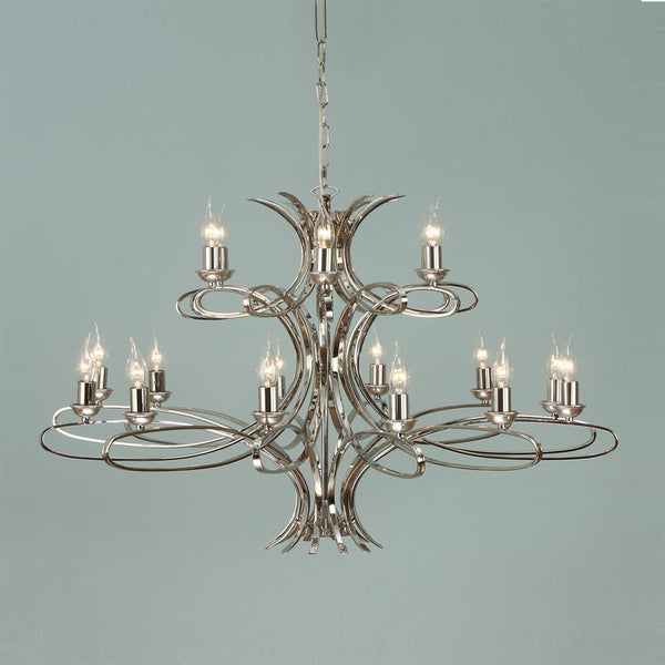 PENN 18 Light Chandelier in Polished Nickel