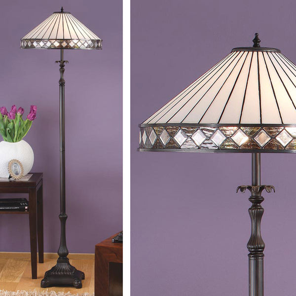 FARGO Tiffany 2 Light Floor Lamp