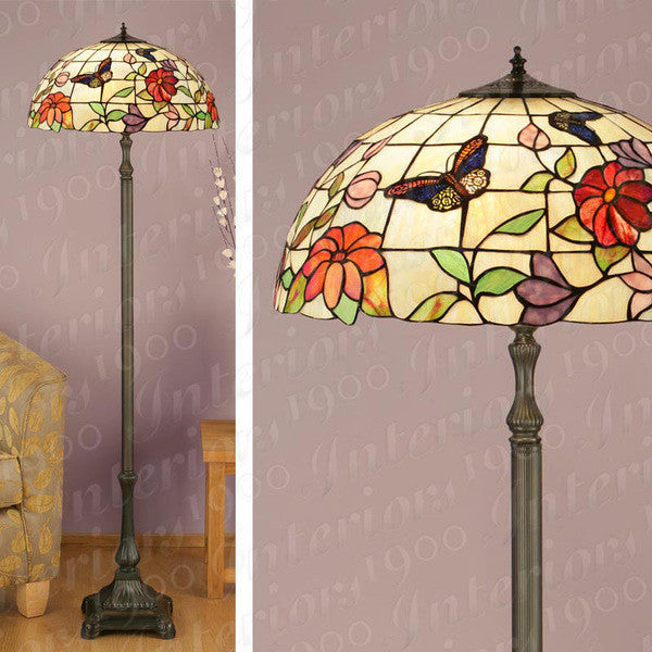 BUTTERFLY Tiffany 2 Light Floor Lamp
