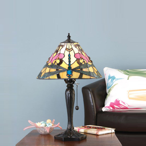 ASHTON Tiffany Small 1 Light Table Lamp