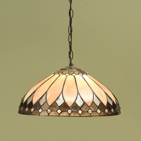 BROOKLYN Art Deco 1 Light Pendant - Brass