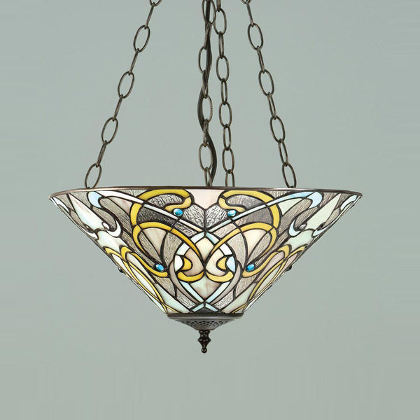 DAUPHINE Tiffany Inverted 3 Light Pendant