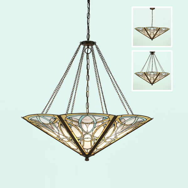 DAUPHINE 8 Light Mega Tiffany Pendant