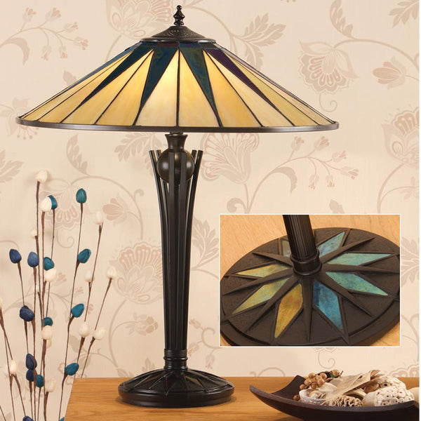 DARK STAR Tiffany 2 Light Table Lamp