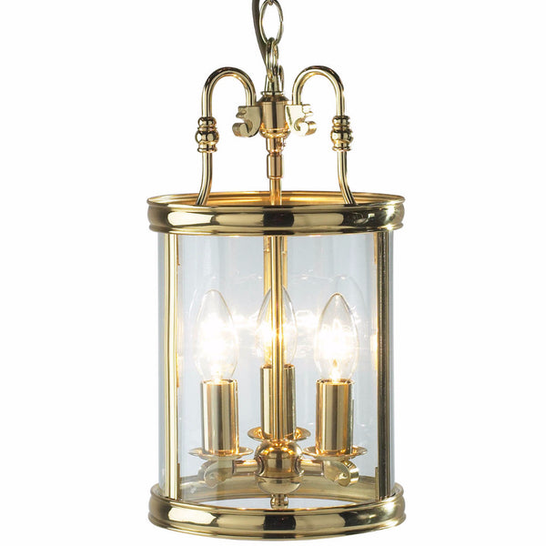 LAMBETH 3 Light Cast Brass Lantern in Polished