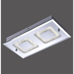 LISA 2 Light LED Ceiling Flush - Chrome