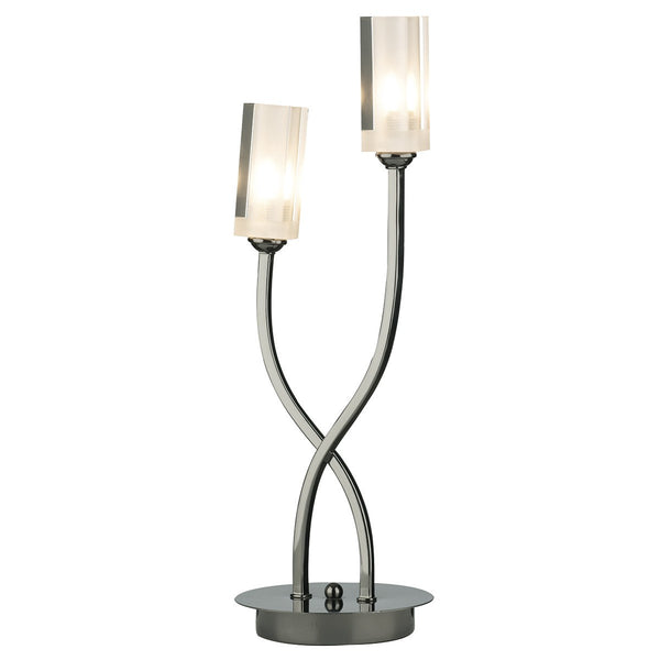 MORGAN Table Lamp - Black Chrome