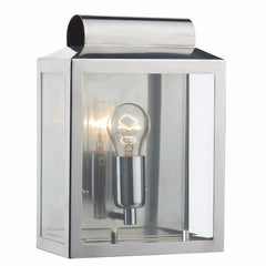 NOTARY 1 Light Outdoor Wall Light in Stainless Steel