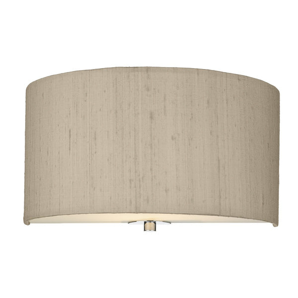 RENOIR 1 Light Silk Wall Light - Taupe