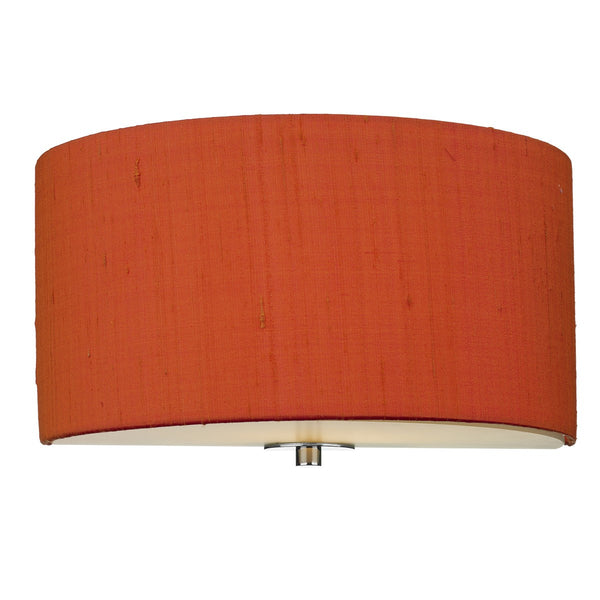 RENOIR 1 Light Silk Wall Light - Firefly Orange