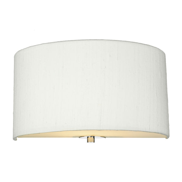 RENOIR 1 Light Silk Wall Light - Ivory